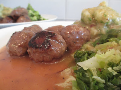 Swedish meatballs with a Creamy Beefy Sauce