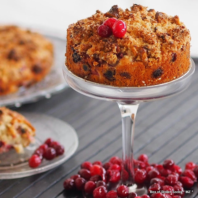 Cranberry Pecan Orange Cake - The Home Bakers