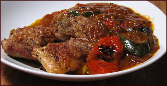 Slightly Spicy Nice and Saucy Chicken and Pepper Casserole