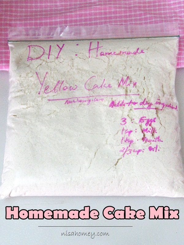 Homemade Yellow Cake Mix Recipe