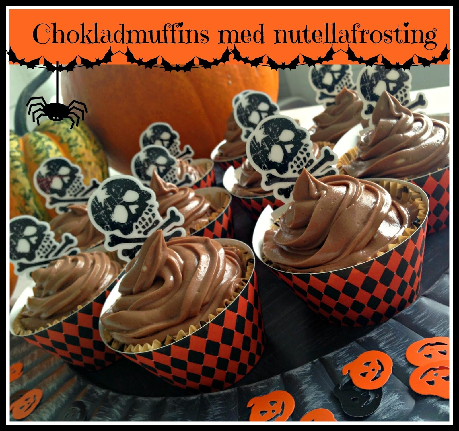 Chokladmuffins med nutellafrosting