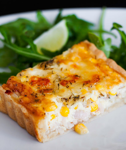 Chicken & sweetcorn pie