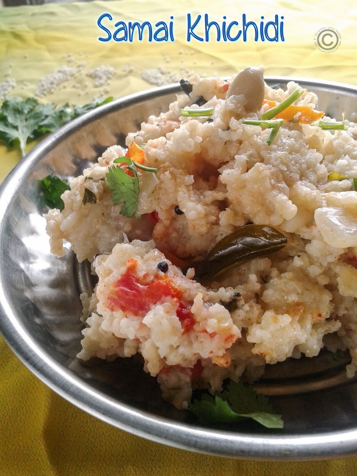 SAMAI KHICHIDI I LITTLE MILLET VEGETABLE UPMA I MILLET RECIPES I HEALTHY BREAKFAST RECIPES