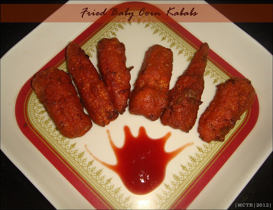 Deep fried Baby Corn Kababs & a Special Award