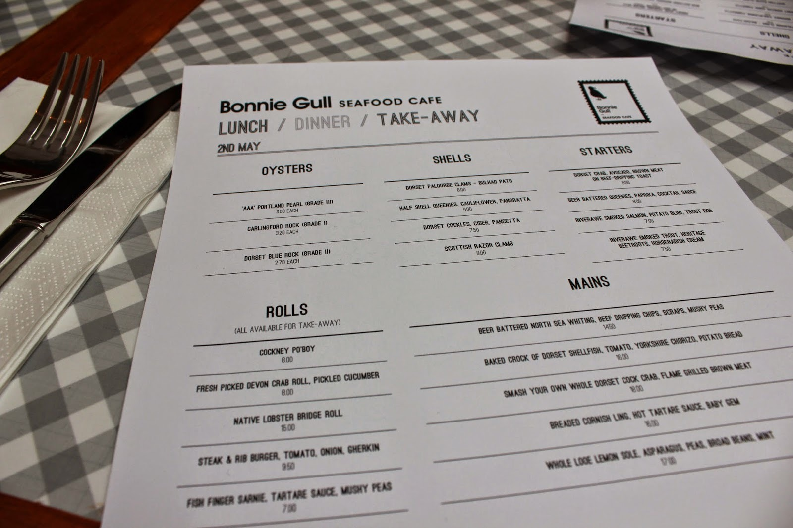 Bonnie Gull Seafood Cafe, Exmouth Market