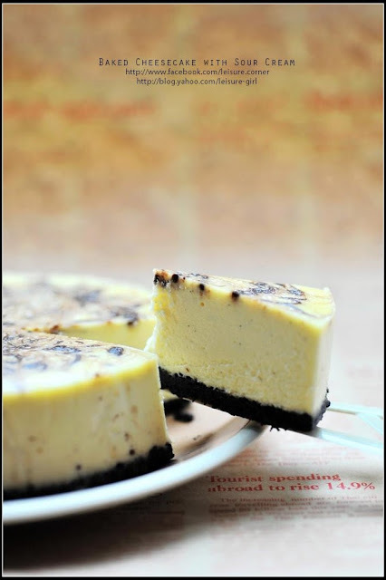 Baked Cheesecake with Sour Cream (附食譜)