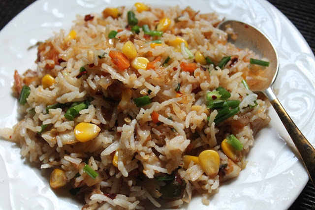 Sweet Corn Fried Rice Recipe Recipe - Corn Fried Rice Recipe