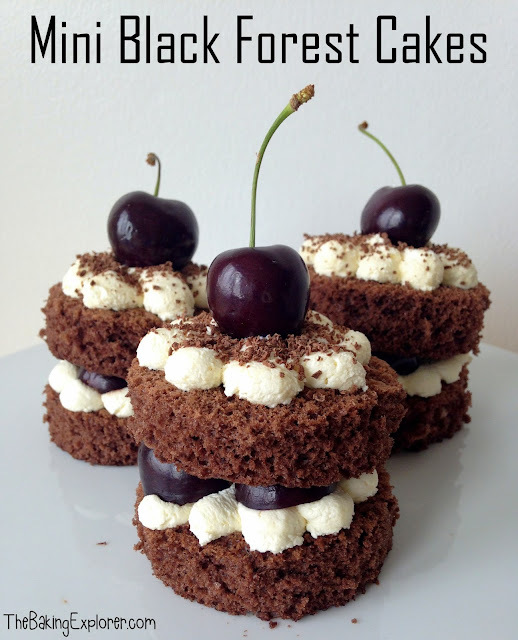 Mini Black Forest Cakes: GBBO Season Six Begins!
