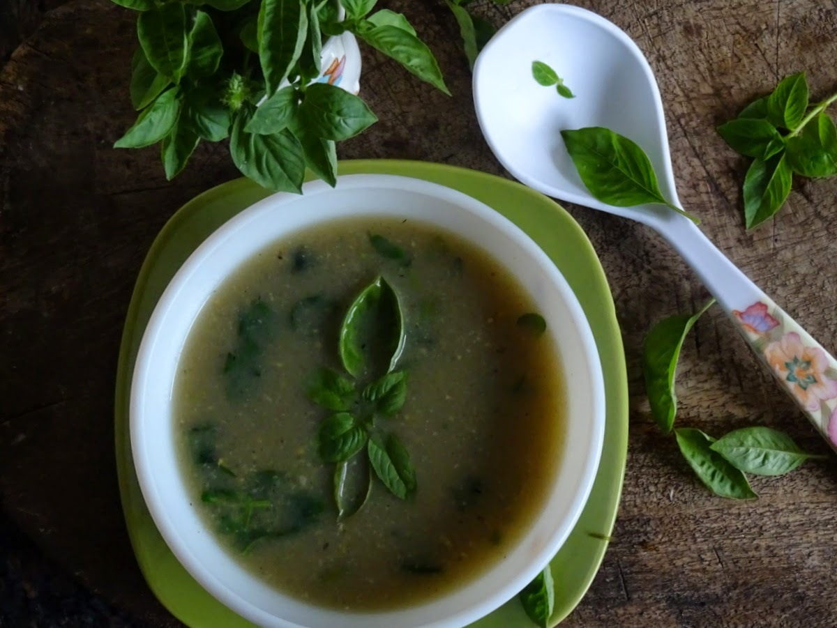 Khlimbra Hon/A Dish Made Of Basil Leaves& Fermented Fish