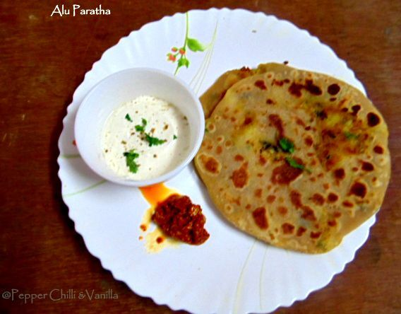Alu Paratha/  Whole Wheat Aloo Parantha recipe
