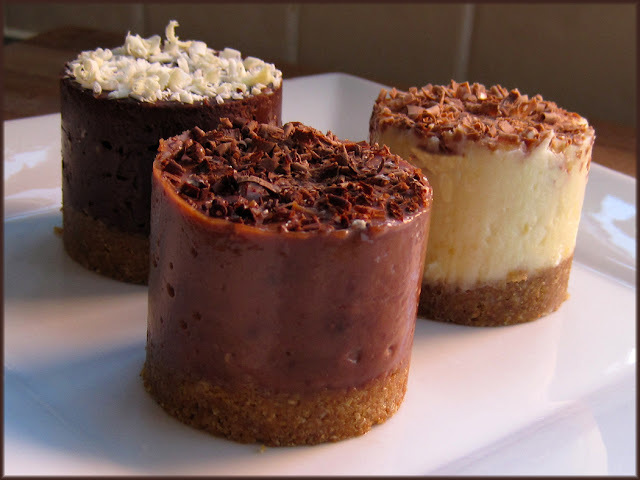 Tiny Toblerone Cheesecakes - Three Ways