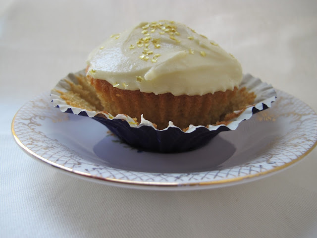 Passionfruit Cupcakes with White Chocolate Icing