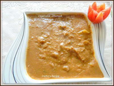 Vegetable  Dhansak   With Brinjal Pakoda  - Parsi Cuisine