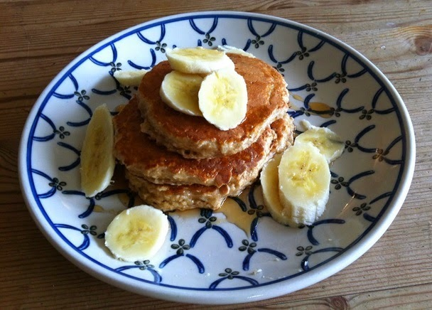 healthy porridge oat pancakes