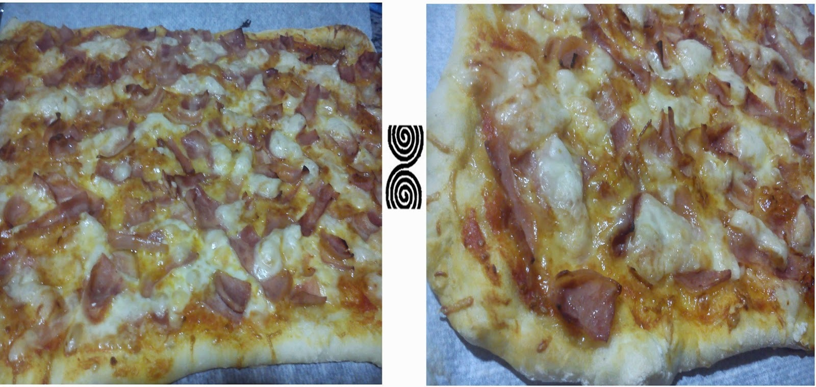Pizza jamón y bacon