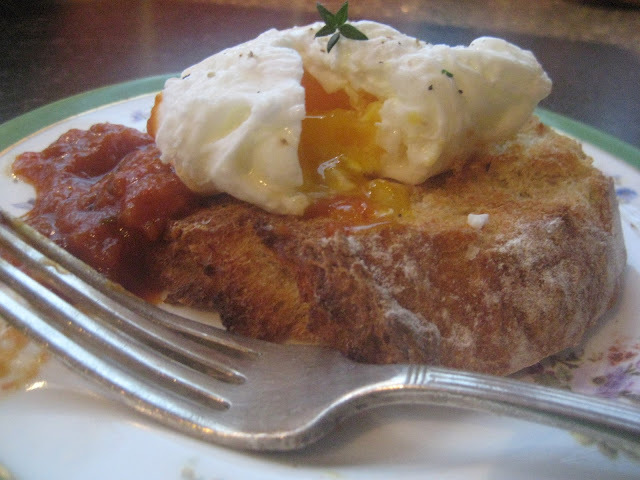 Perfect Poached Eggs with Homemade Ketchup