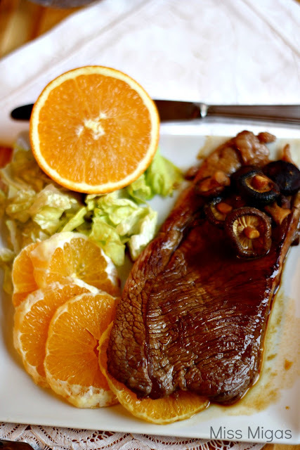 Orange Shiitake Steak