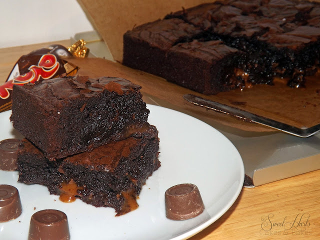 Chocolate rolo brownies... Rolies?