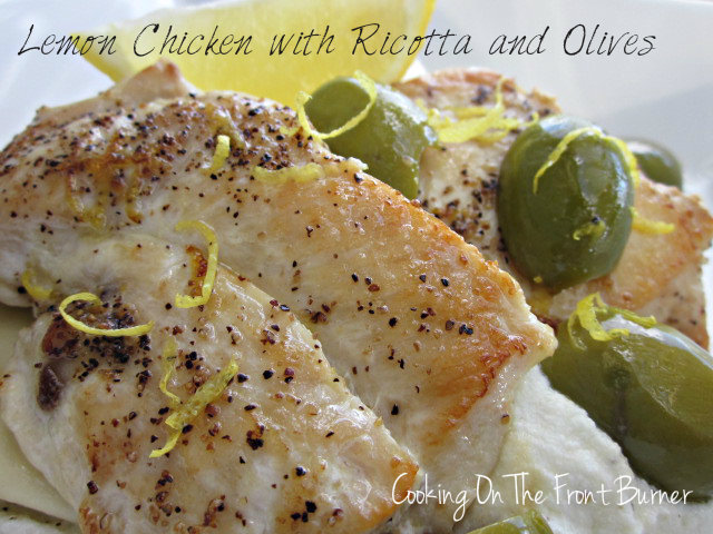 Lemon Chicken with Ricotta and Olives