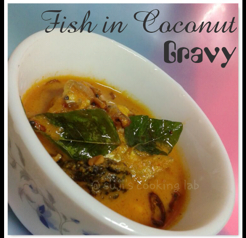 Fish in Coconut Gravy - Thenga aracha Meen curry