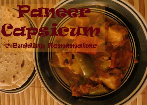 paneer with red and yellow capsicum