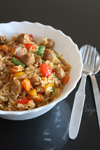 Meal Maker/ Soya Chunks Fried Rice