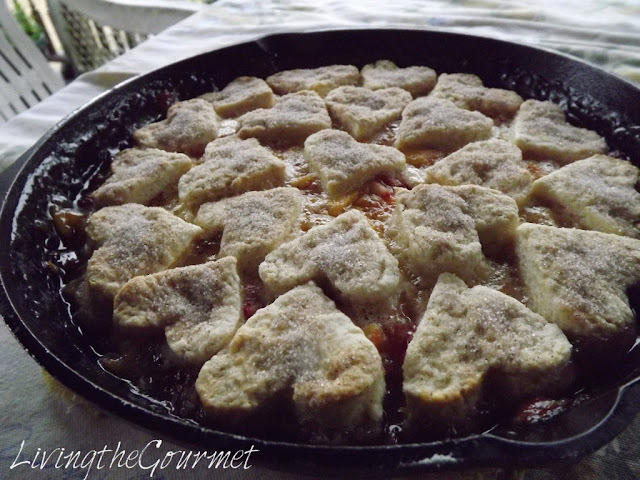 ~ Peach and Strawberry Cobbler ~