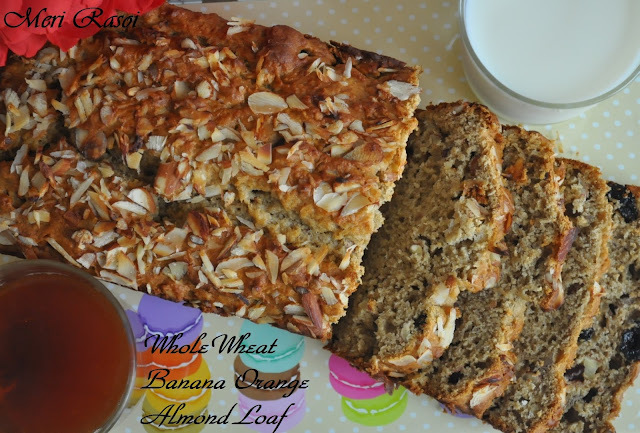 Wholewheat Banana Orange Almond Loaf