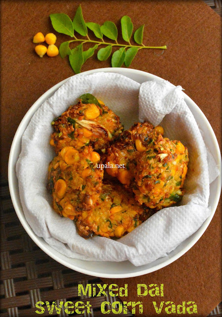 Mixed Dal Sweet Corn Vada (No onion No Garlic)