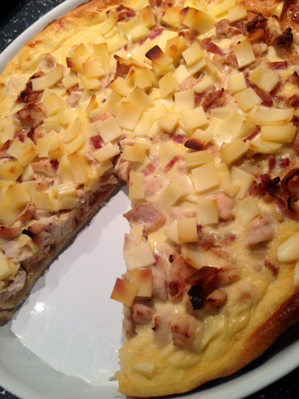 Quiche de pollo y bacon