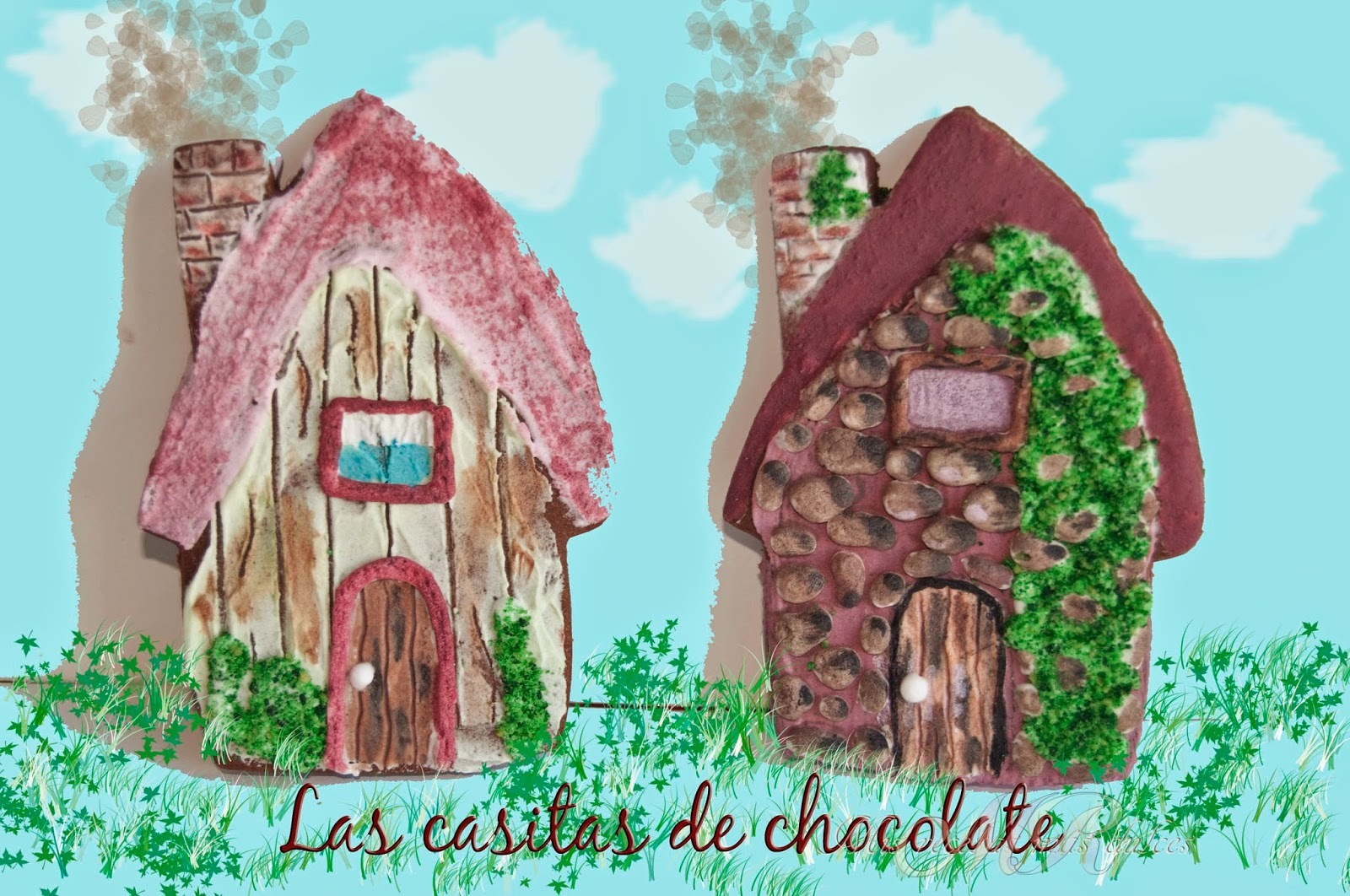 GALLETAS CASITAS DE CHOCOLATE (TUTORIAL)