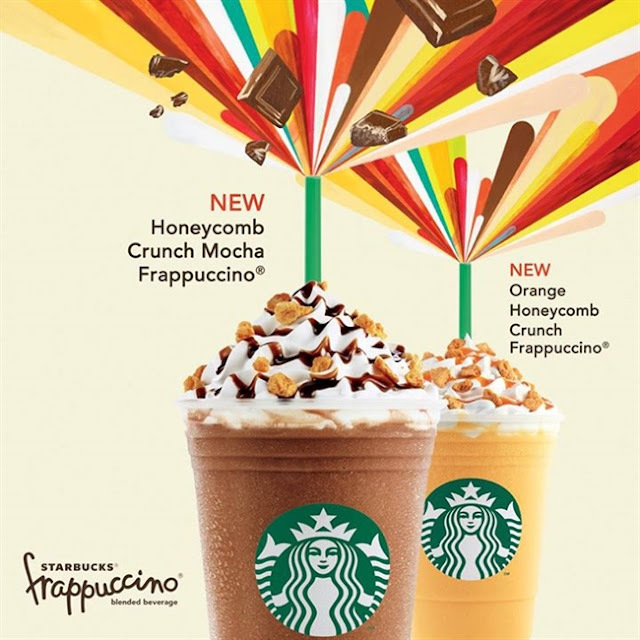 The New Starbucks Drinks Are Out: The Honeycomb Crunch Mocha Frappucino and Orange Honeycomb Crunch Frappucino