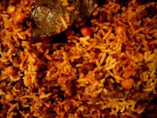 downton suppers: keema and channa pilau