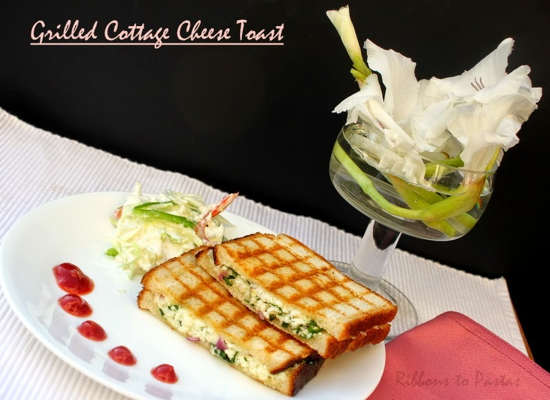 Grilled Cottage Cheese Toast