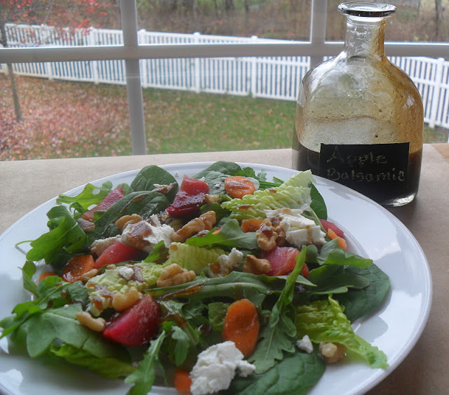 Apple Balsamic Vinaigrette...A Great Use For An Empty Bottle