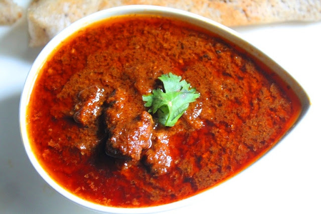 Rajasthani Laal Maas Recipe / Red Mutton Curry Recipe