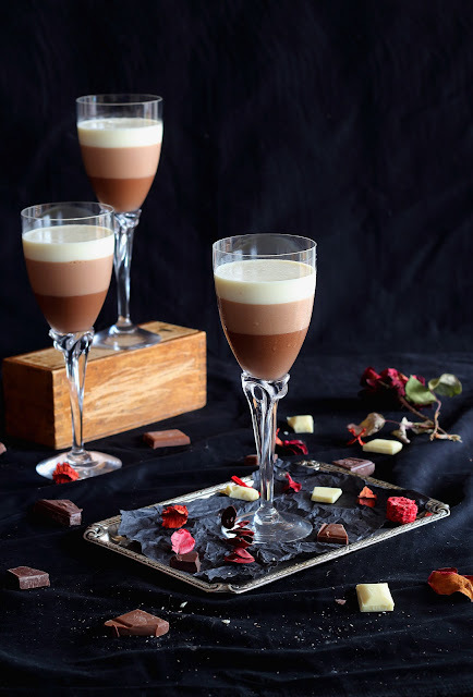 Mousse tres chocolates