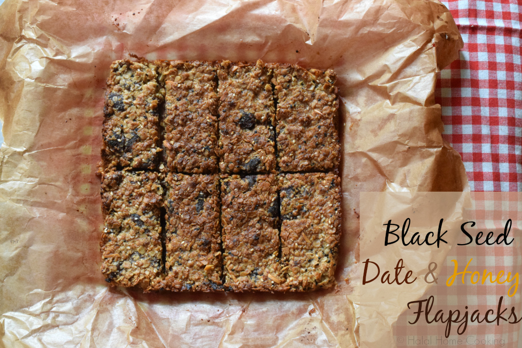 Black Seed, Date & Honey Flapjacks/Oat Bars
