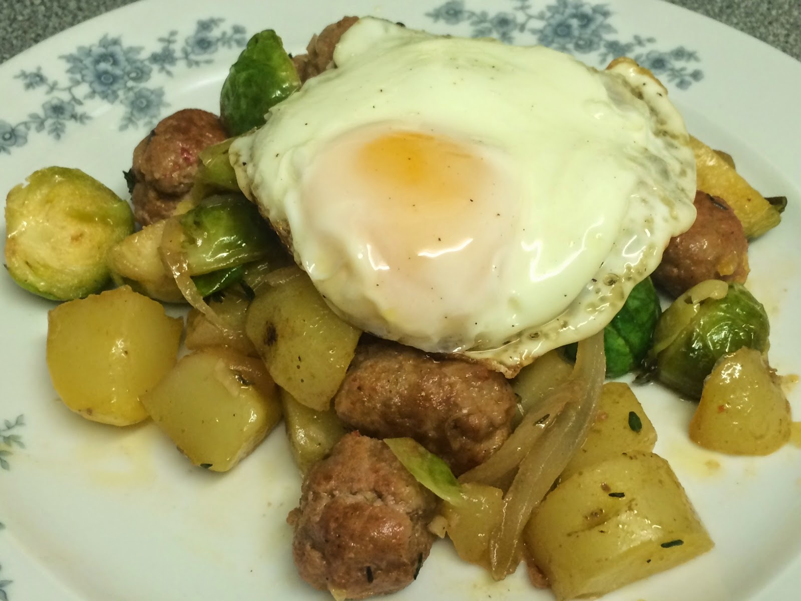 brussel sprouts chorizo