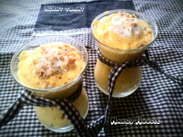 Mango Mousse With Canned Mango Pulp- Sardi Mai Garmi Ka Mazza