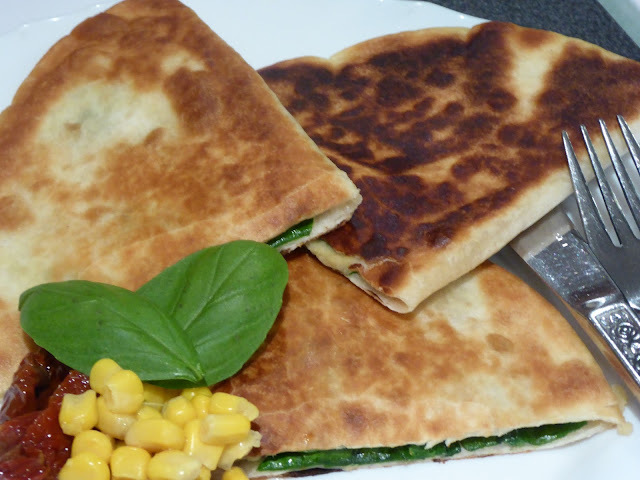 Millas vegetariska quesadillas