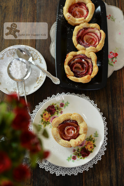 French Apple Roses Mini Tarts