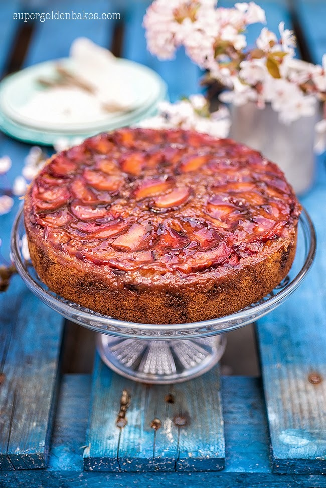 Simple pleasures: Spiced Plum Upside-Down Cake