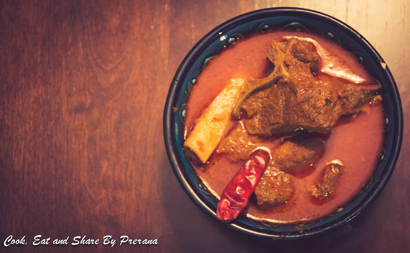Rajesthani Laal Maas / Laal Maas / Mutton in Hot red chili Sauce