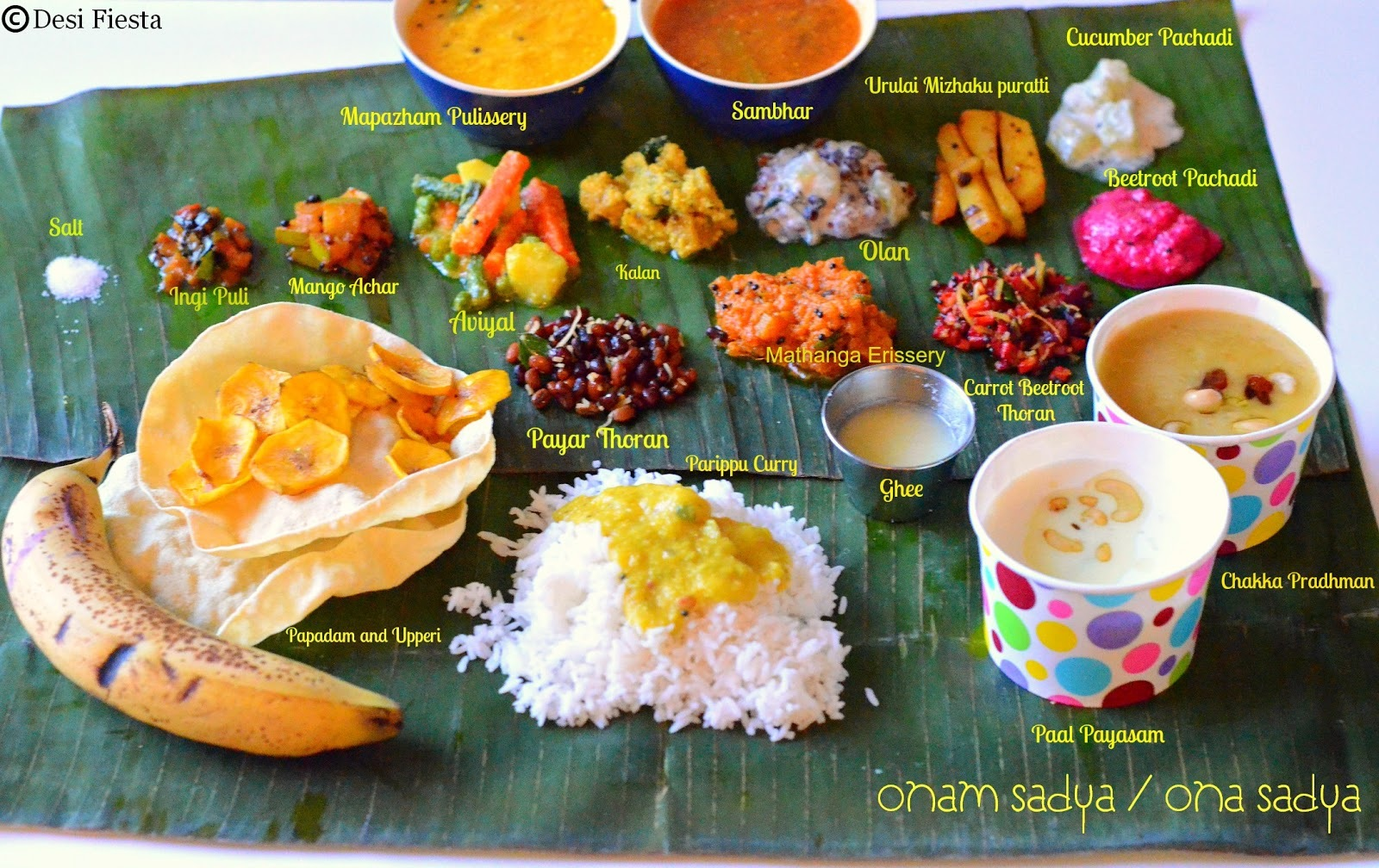 Ona Sadya Recipes | Kerala Recipe| Kerala Lunch Menu