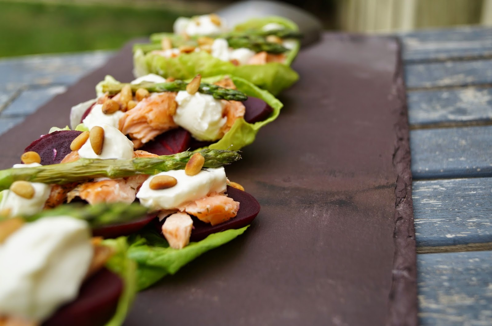 Baby Beetroot and Hot Smoked Salmon Salad