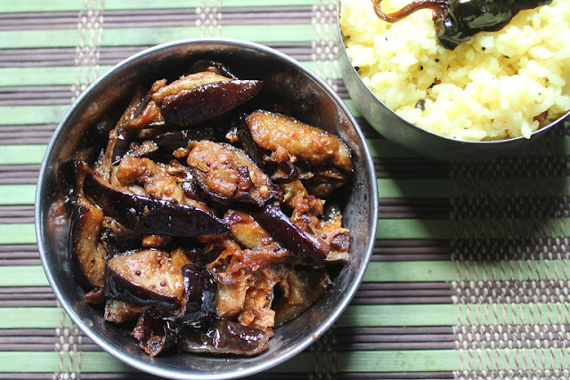 Brinjal Podi Fry Recipe - Simple Kathirikkai Varuval Recipe