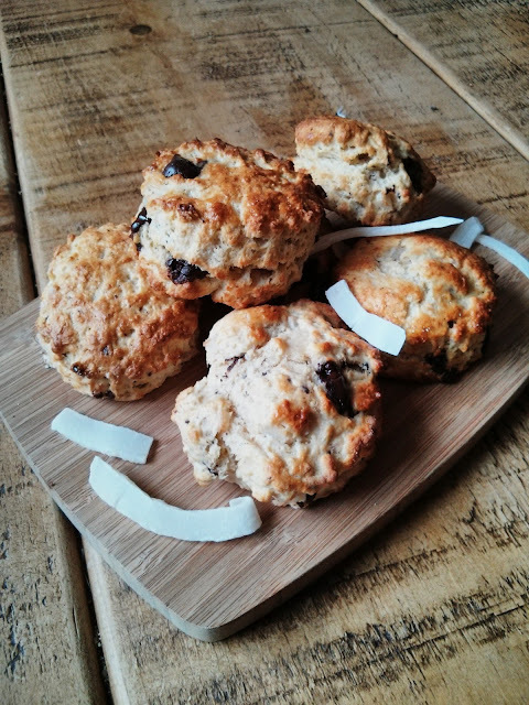 Chocolate & Coconut Scones