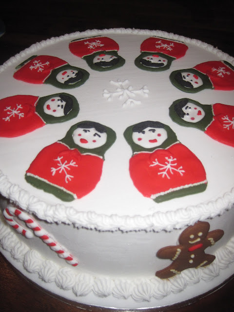 Christmas Cakes of Cheese, Fruit and Gingerbread