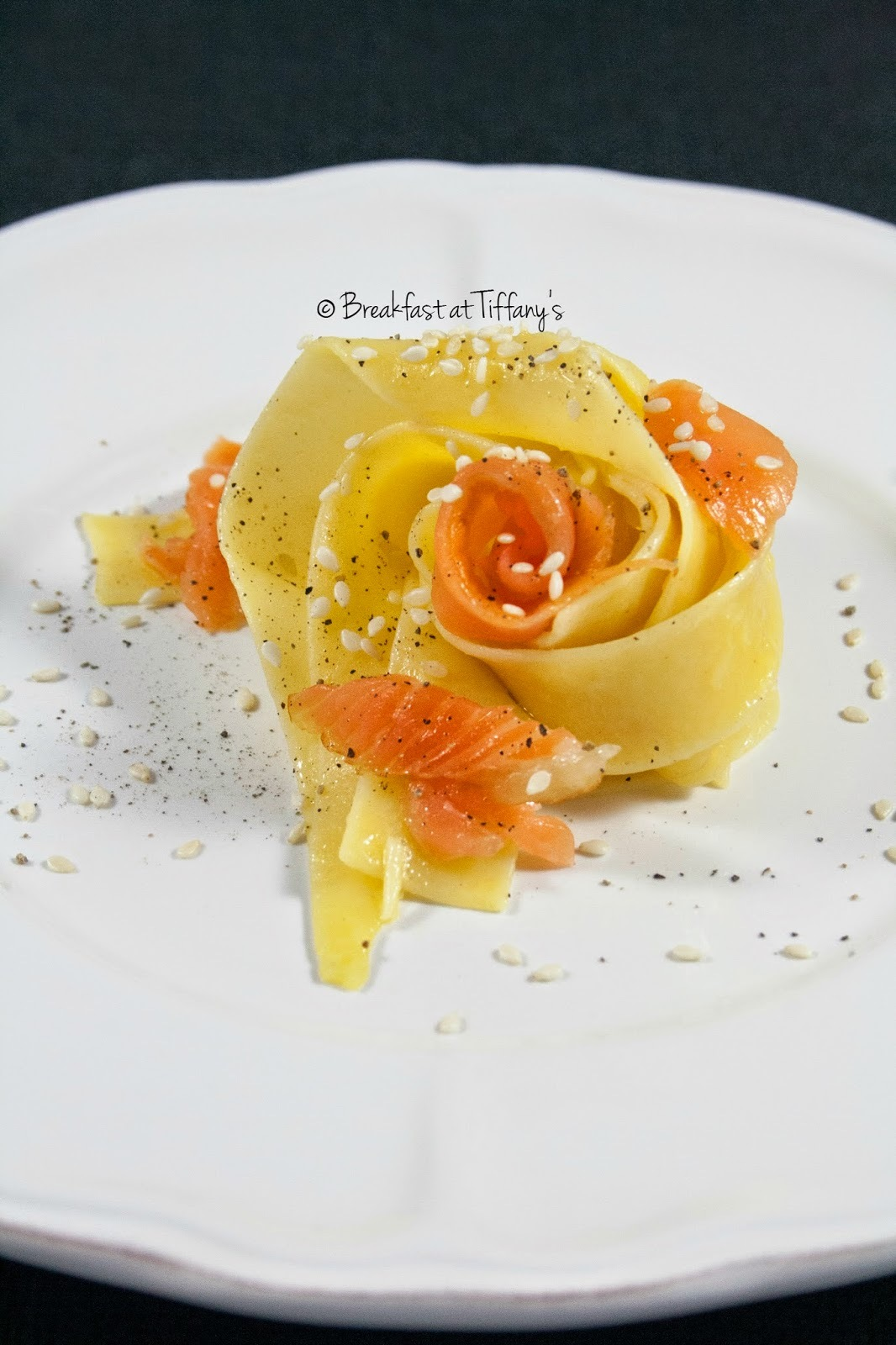Pasta panna e salmone / Pasta with cooking cream and smoked salmon